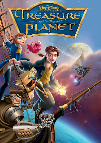 Poster Of Treasure Planet 2002 In Hindi Dual Audio Bluray 720P Free Download
