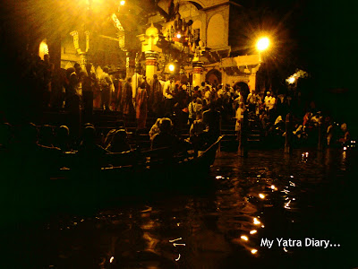 Evening Yamuna Arti in Mathura, Uttar Pradesh