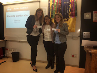 Catalina, President of club, with Madalina and Camilla, the two speakers of session.