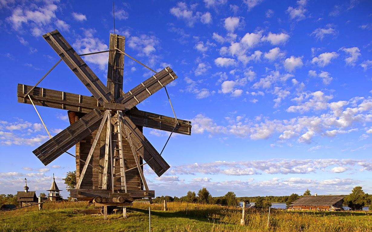 ヴォロニー・オーストロフ村の風車