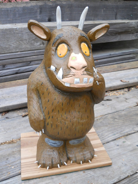 gruffalo  woodcarving