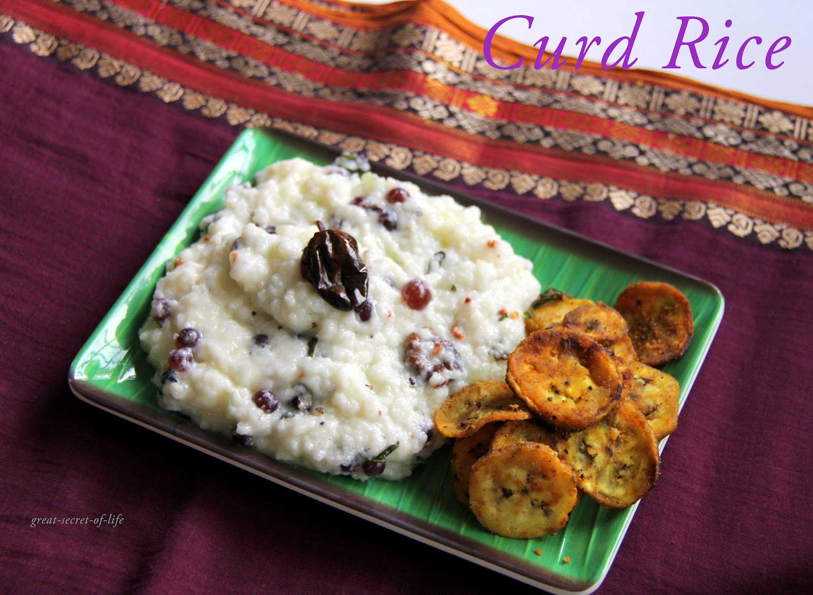 Curd Rice - yogurt rice - Rice recipes| Great-secret-of-life