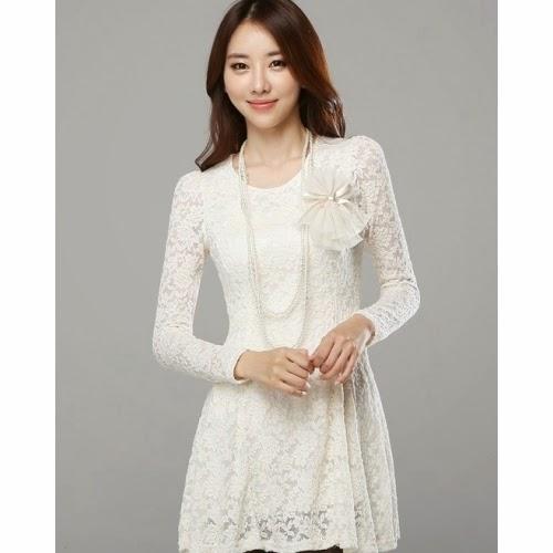 Model Gaun Pesta Brokat Korea