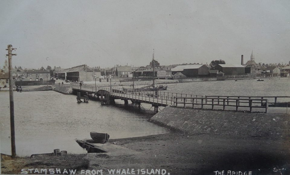 Bridge to Whale Island 1930s