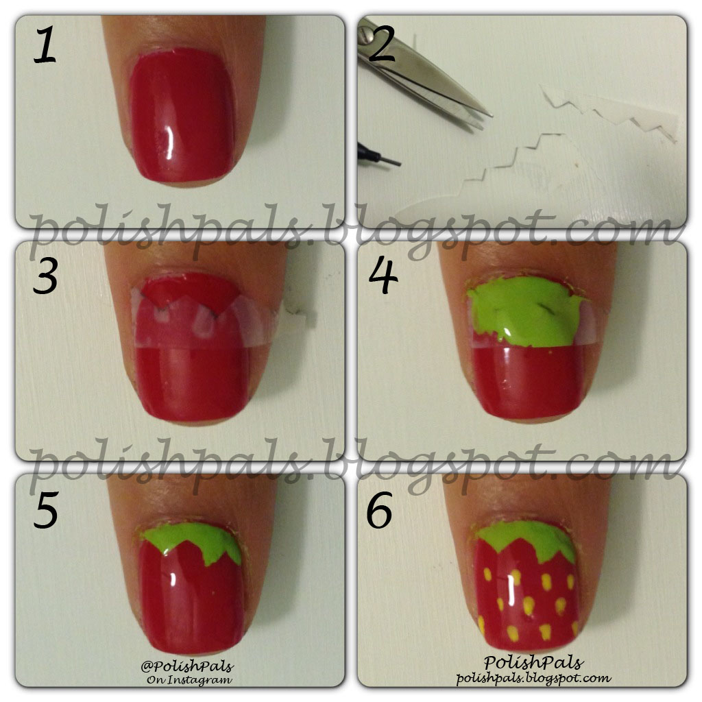Polish Pals Strawberry Nail Art Tutorial