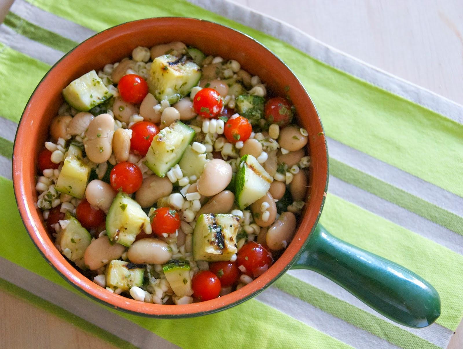 My Recession Kitchen...and garden: Summer Veggie Butter Bean Salad
