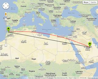 موقع لمعرفة المسافة بين دولتين أو مدينتين حول العالم