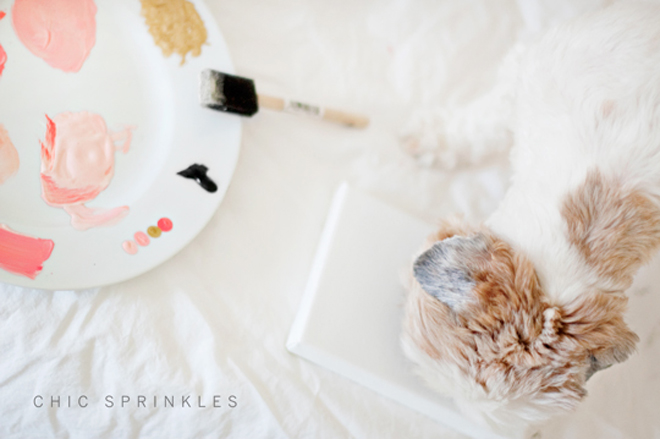 DIY: Paw Print Wall Art