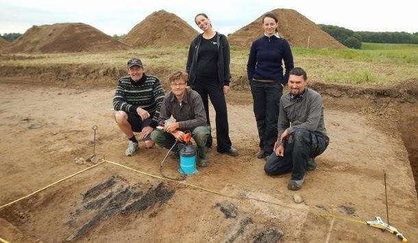 Equipa de pesquisa que anunciou a descoberta da fortaleza