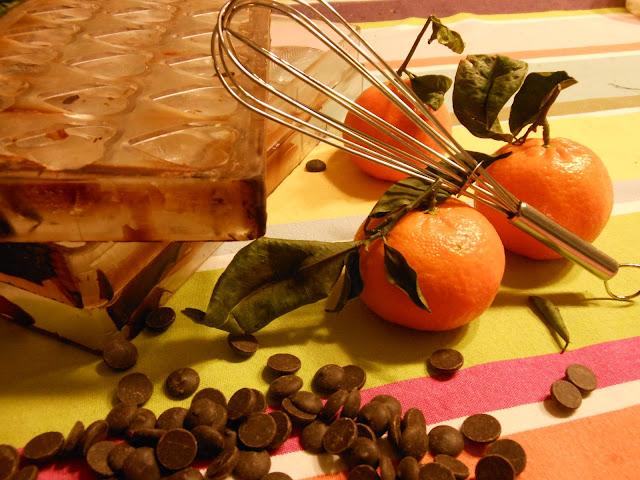 Praline chocolat noir ganache à l'orange