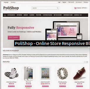 PoliShop - Online Store Responsive Blogger Template