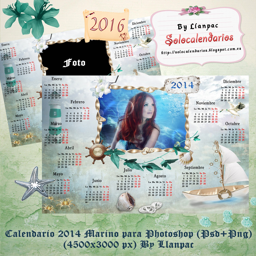 Calendarios para Photoshop