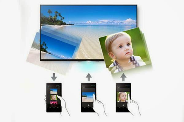 Kết nối điện thoại Sony với tivi Sony Photo Share
