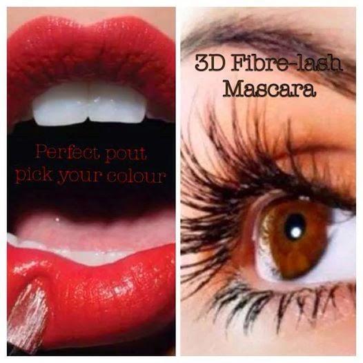 3D fiber-lash mascara application + your PERFECT POUT lip application