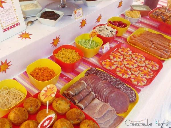 buffet salade brunch soleil