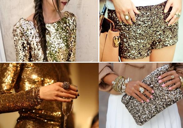 moda y complementos dorados