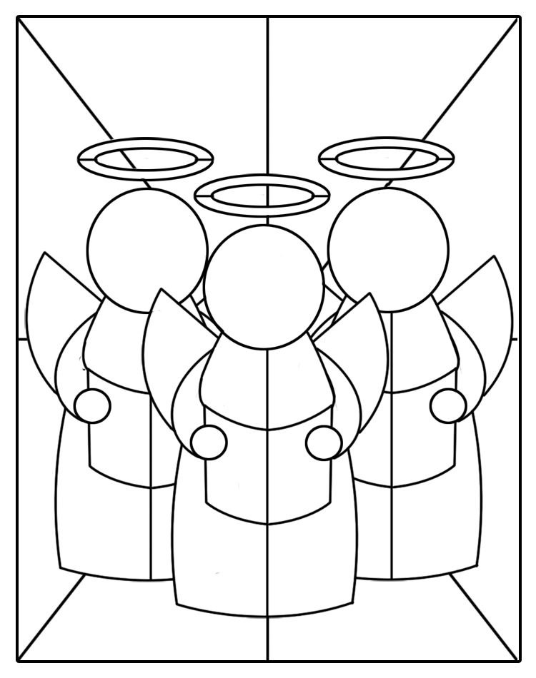 Bright image for printable stained glass patterns