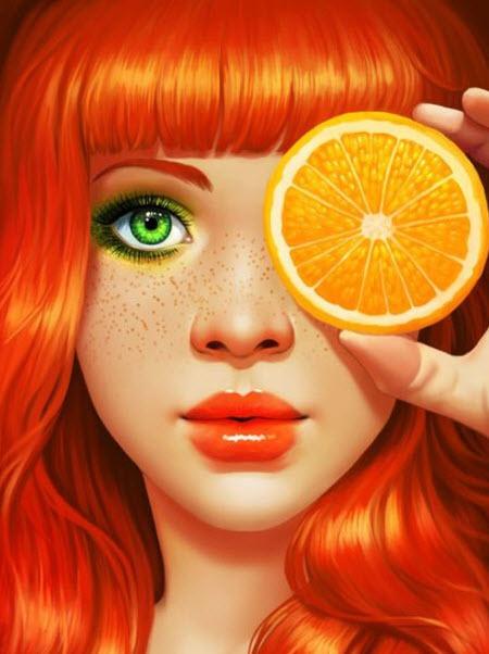 Naranja y coloradas
