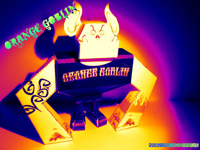 Orange Goblin Paper Toy
