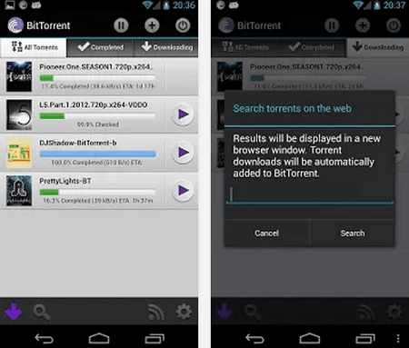 torrent android smartphone