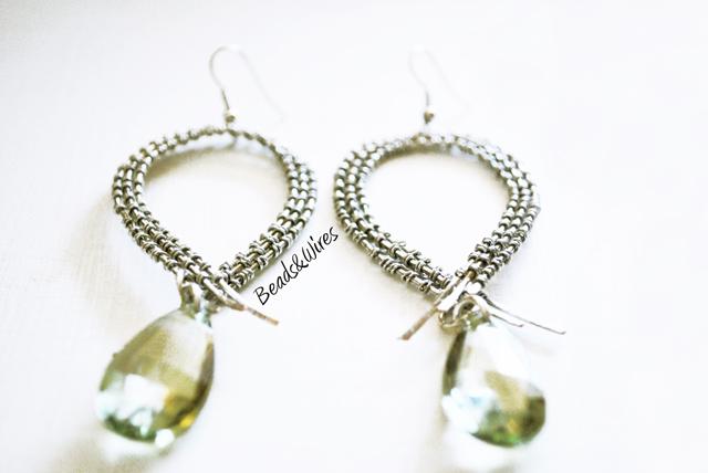 orecchino wrapping verde