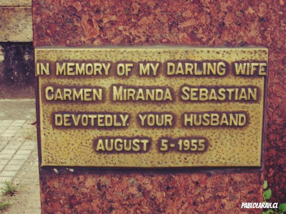Carmen Miranda Epitaph,Cemitério São João Batista,Saint John the Baptist Cemetery,Rio de Janeiro, Brazil, Pablo Lara H Blog, pablolarah