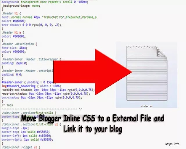 how to create external css