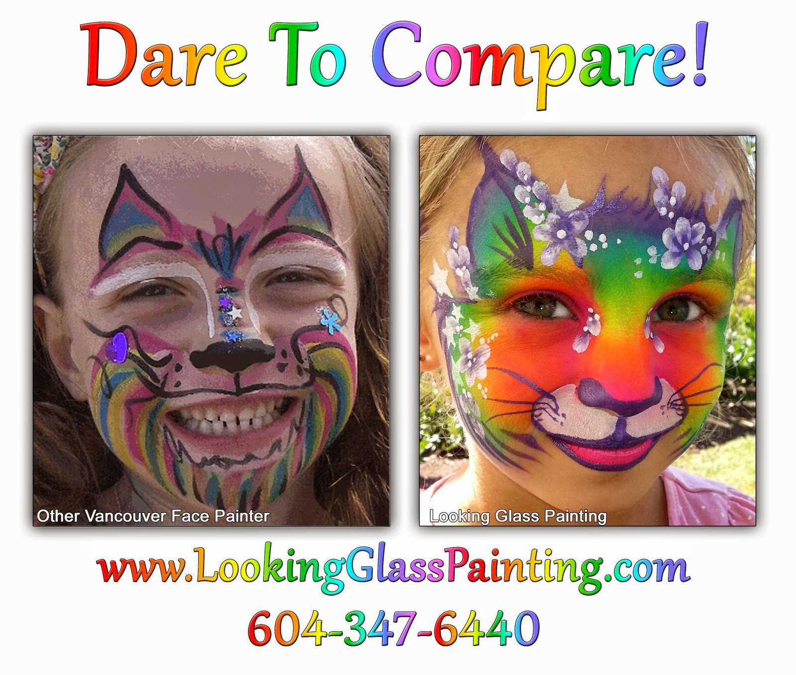 """Face painting is """"Annoying and Ugly"""" Compare"""