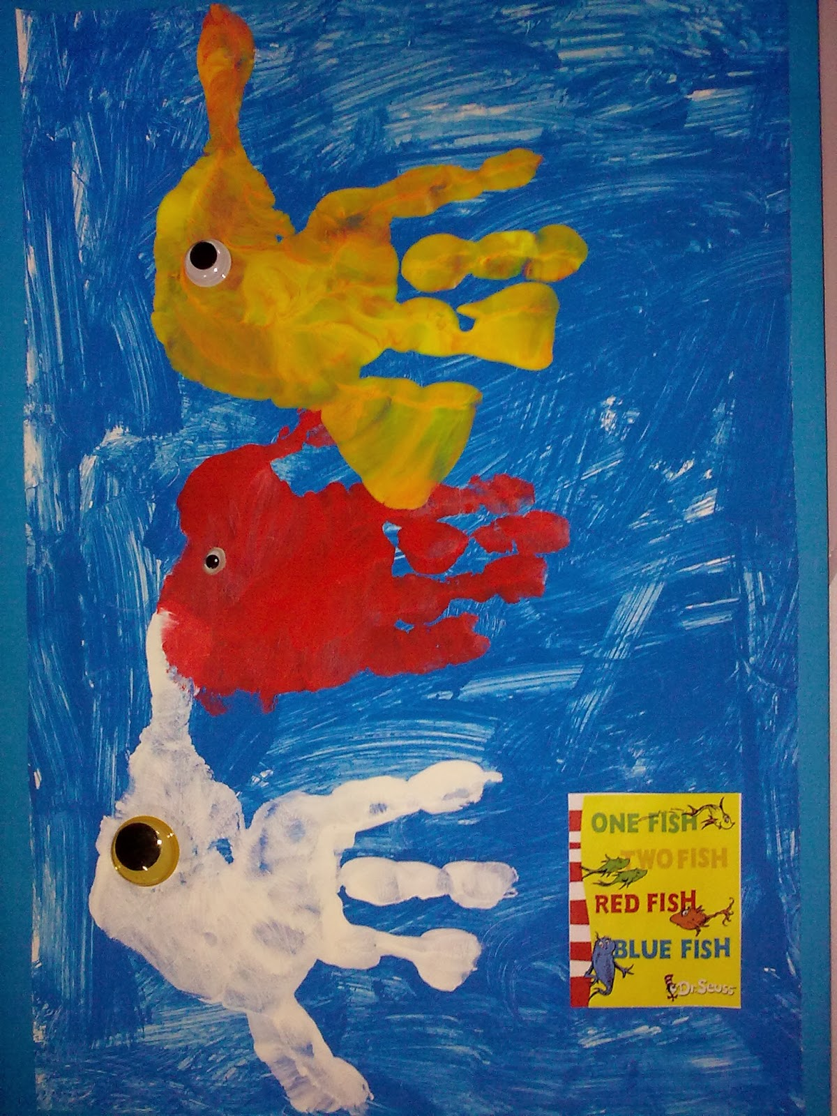 A working queen bee home learning one fish two fish for Red fish blue fish
