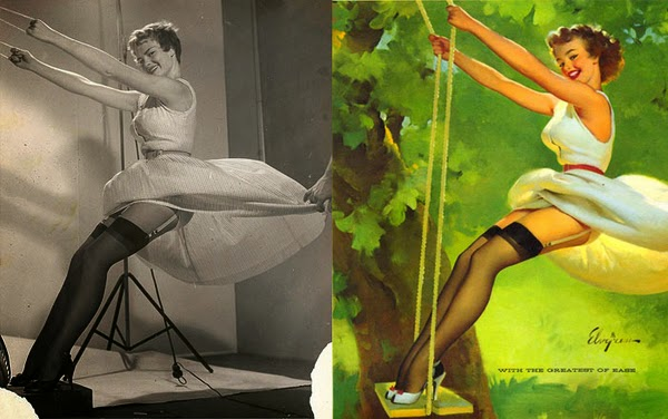 pin up paintings, real women behind pin up paintings-5