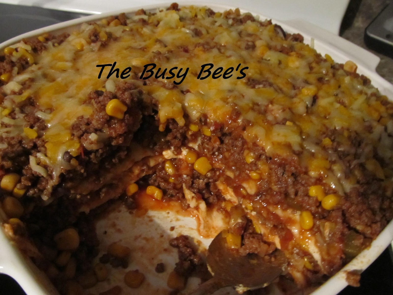 The Busy Bee's: Nacho Casserole