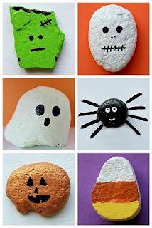 Piedras Pintadas, Diseños Halloween, Parte 1