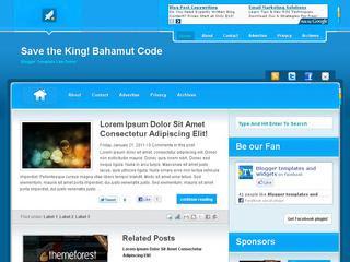 Bahamut Code Blogger Template