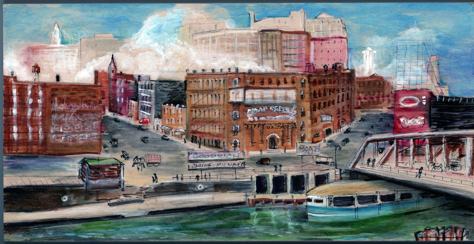 Before Michigan Avenue had a bridge