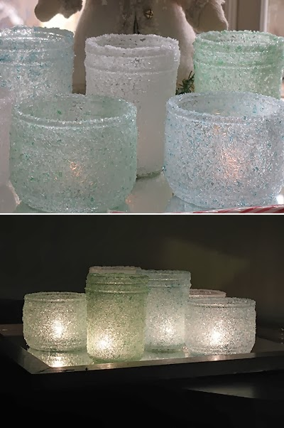 Diy Epsom Salt Luminaries Diy Craft Projects