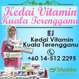 Banner Blog Kedai Vitamin Kuala Terengganu, Shaklee, edit blog murah, design blog murah