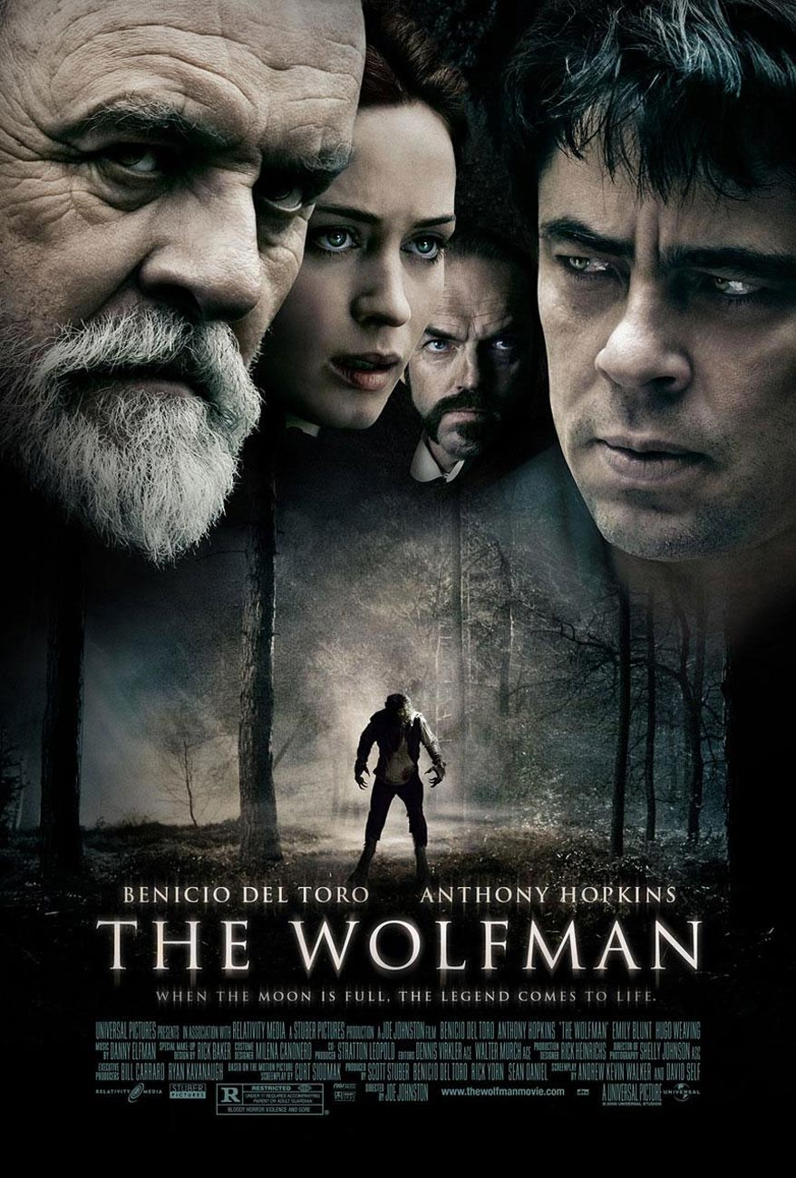 blueray hd mobile movies dubbed in hindi: the wolfman 2010 in hindi