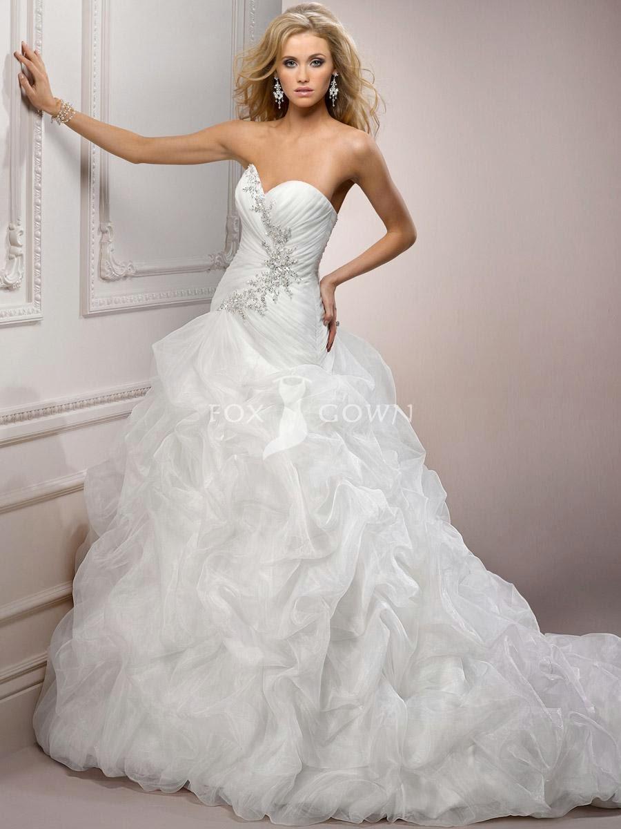 Mermaid Wedding Dress with Ruffle Bottom   Dress images