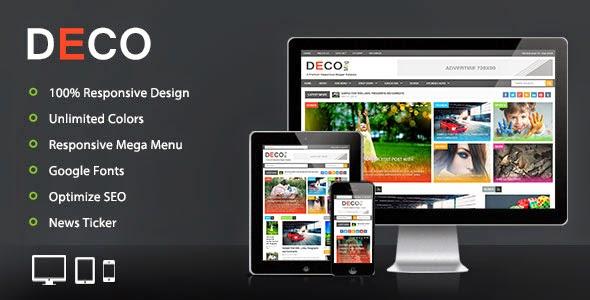 Deco-Mag Responsive Magazine Template