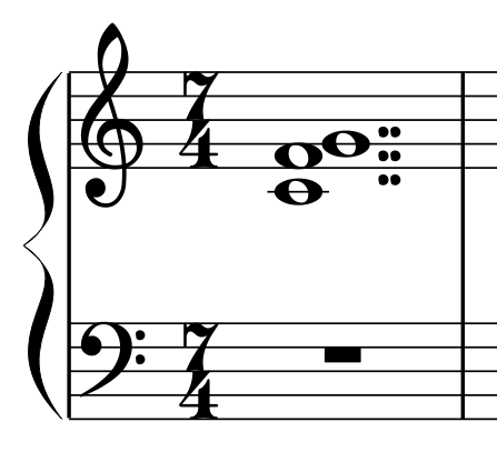 you can see below  a double-dotted whole note is a 4 beat whole note    Double Dotted Whole Note