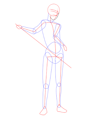 menggambar sasuke uchiha black costume langkah 5