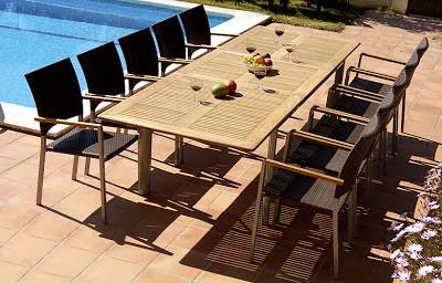 Mesas de comedor por la decoradora experta mesas de for Mesa comedor exterior