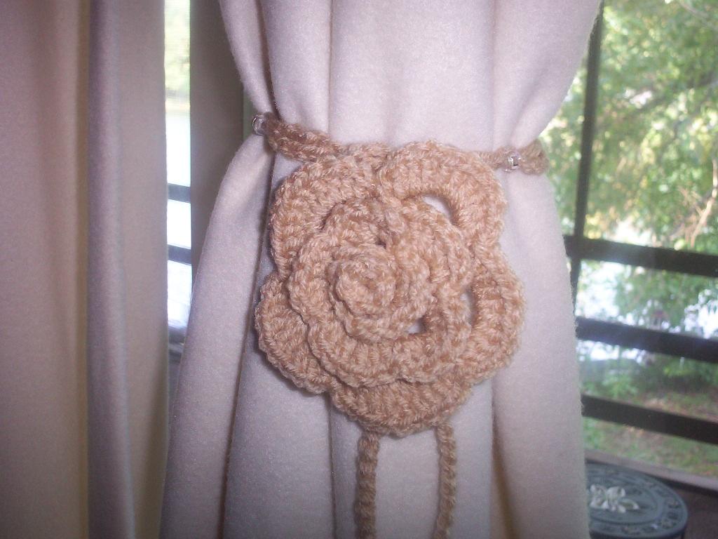Creative Curtain Tie Backs Ideas : Creative Curtain Tie Backs Ideas : How to Crochet Curtain Tie Backs
