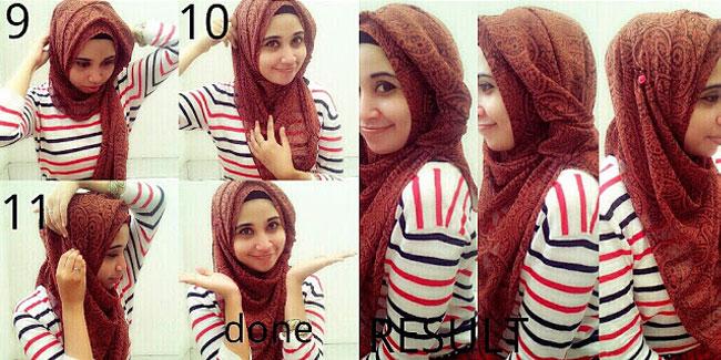 Cara memakai jilbab pashmina agar tidak tembem trend model terbaru