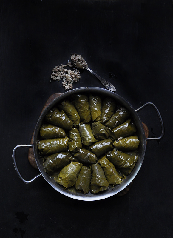 Dolmades with mince