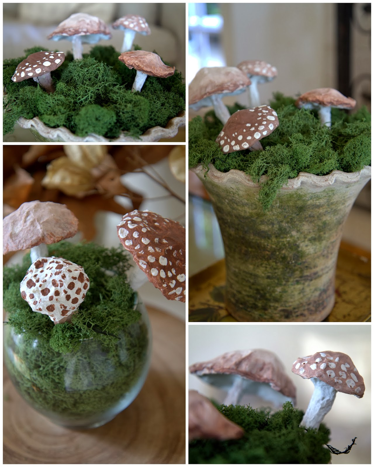 Paper Mache Mushrooms - DIY