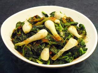 Epinards frais sauce soja