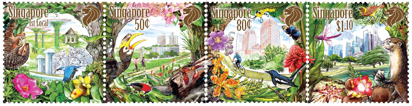 Singapore 2013 City in a Garden stamp issue