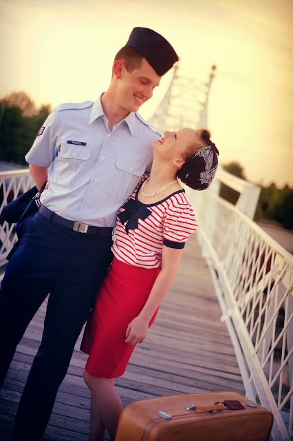 Flashback Summer: Happy Birthday! - love/ life/ vintage couple photoshoot/ military