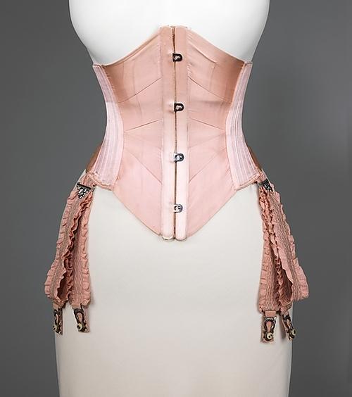 Garter 1875 1825 and waist cincher 1908 both via the metropolitan